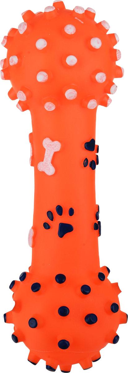 Игрушка для собак Уют Гантель большая, цвет: оранжевый, 26 см игрушка doglike гантель большая канат желтый зеленый красный для собак d 2368ygr