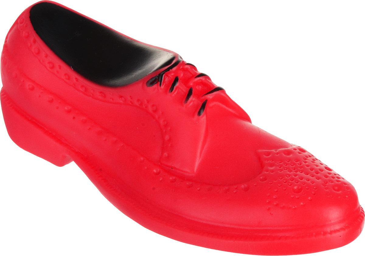 Игрушка для собак Уют Мужской туфель, цвет: красный, 16 x 6 x 5,2 см игрушка для собак уют кеды цвет салатовый 10 x 5 x 4 см