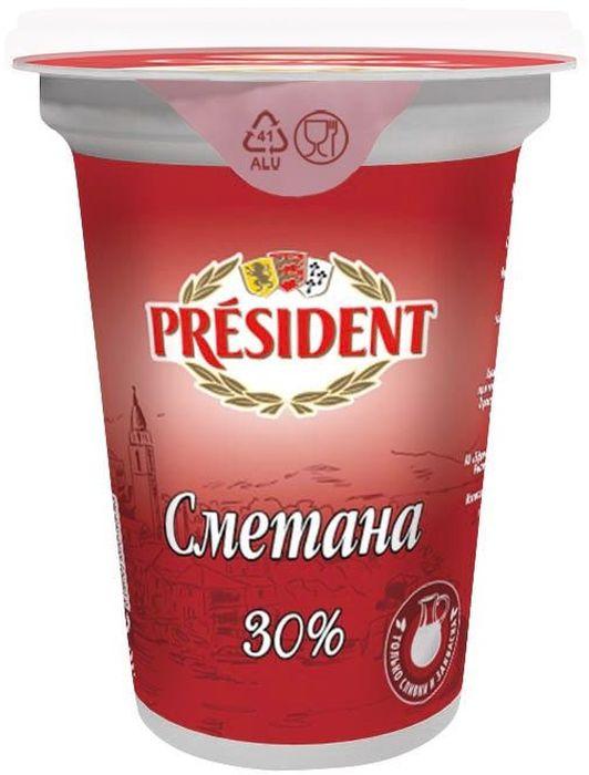 President Сметана 30%, 350 г