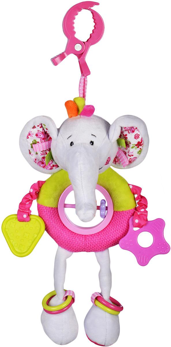 Жирафики Игрушка-подвеска Слонёнок Тим с прорезывателями и погремушками пищалка с погремушками жирафики слонёнок тим с 1 месяца пищалка разноцветный 93568