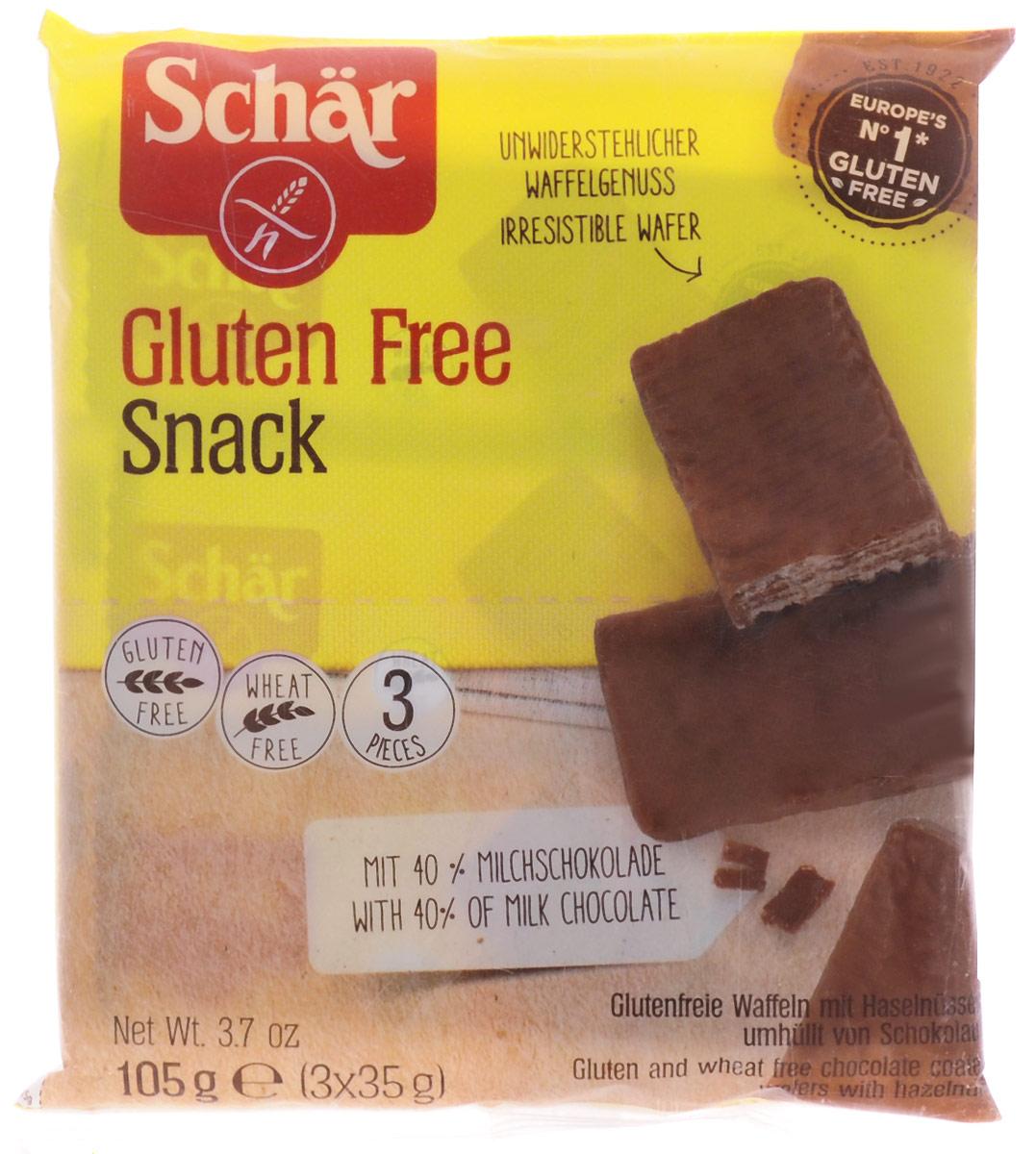 Dr. Schar Snack Вафли в шоколаде с орехами, 3 шт по 35 г dr schar fette croccanti хлебцы 150 г