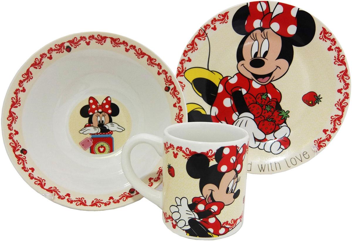 Disney Набор детской посуды Минни 3 предмета цена