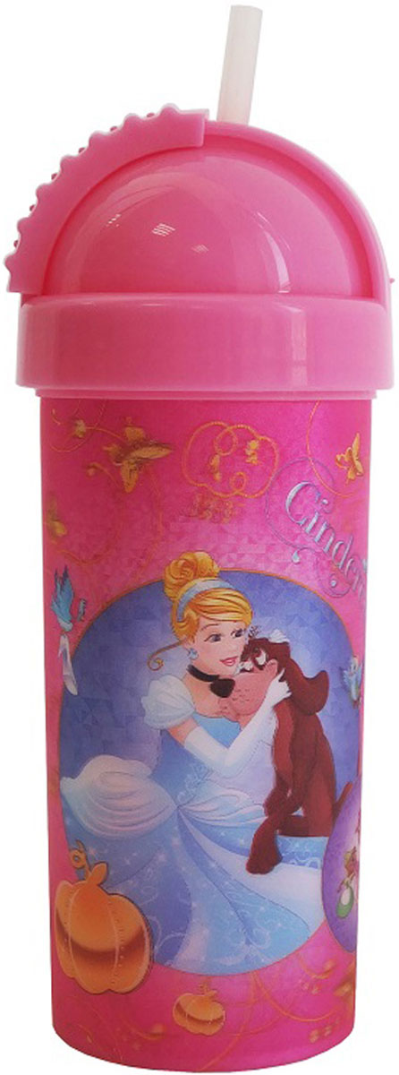 Disney Фляга детская Принцессы с крышкой и трубочкой 400 мл барто агния львовна наша таня громко плачет
