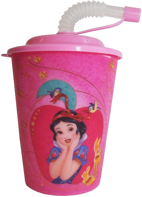 Disney Стакан детский Принцессы с крышкой и трубочкой 400 мл disney стакан детский тачки 3 с крышкой и трубочкой 400 мл