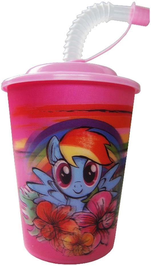Hasbro Стакан детский My Little Pony с крышкой и трубочкой 400 мл disney стакан детский тачки 3 с крышкой и трубочкой 400 мл