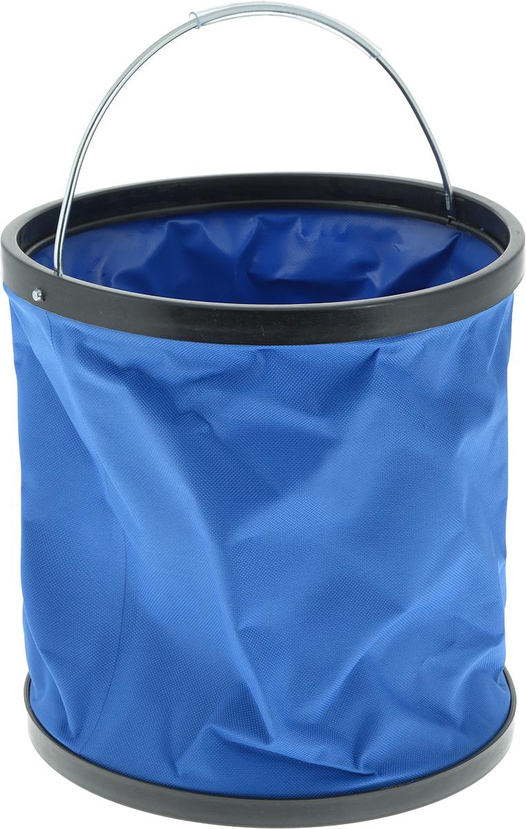 Ведро складное CityUp, цвет: синий, 11 л. АR1207 ведро складное acecamp transparent folding bucket