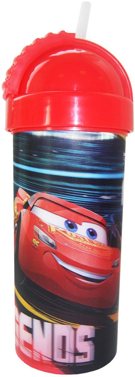 Disney Фляга детская Тачки 3 с крышкой и трубочкой 400 мл disney стакан детский тачки 3 с крышкой и трубочкой 400 мл