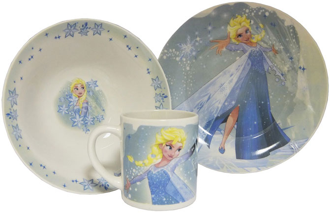 Disney Набор детской посуды Холодное сердце Эльза 3 предмета цены онлайн