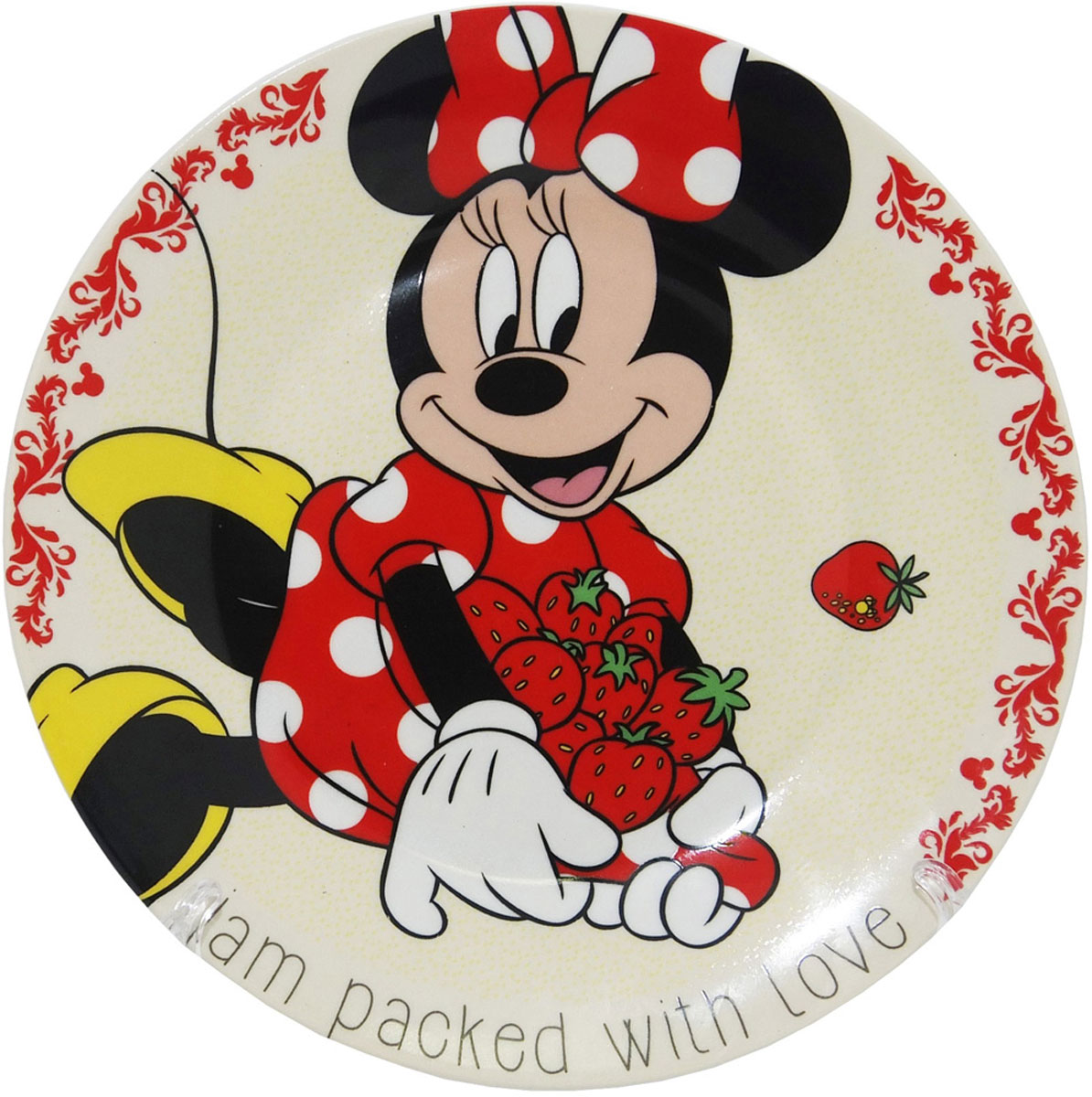 Disney Тарелка детская Минни диаметр 19 см мяч попрыгунч mondo минни 45 см