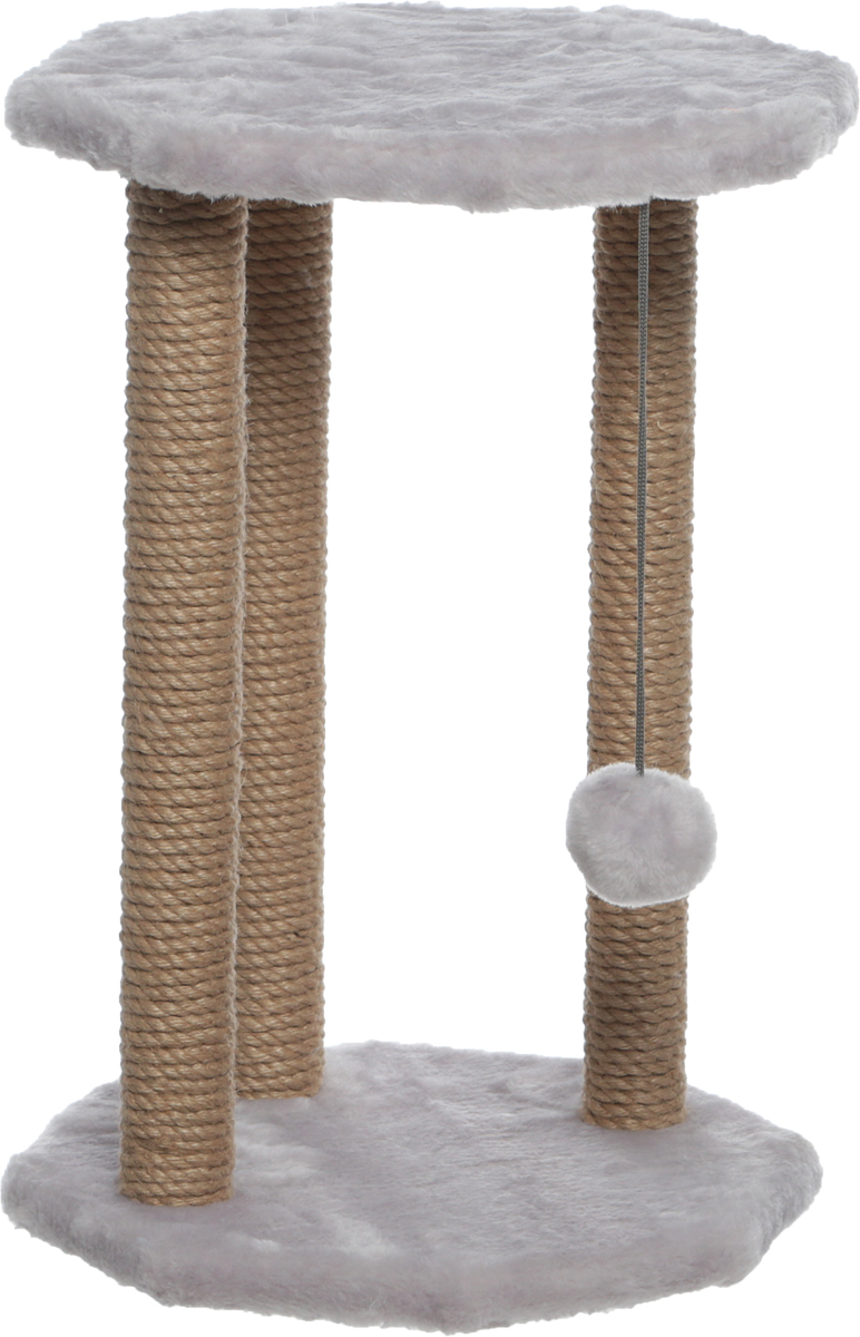 Когтеточка Велес, с игрушкой, цвет: серый, 35 х 35 х 50 см jil sander navy платье длиной 3 4
