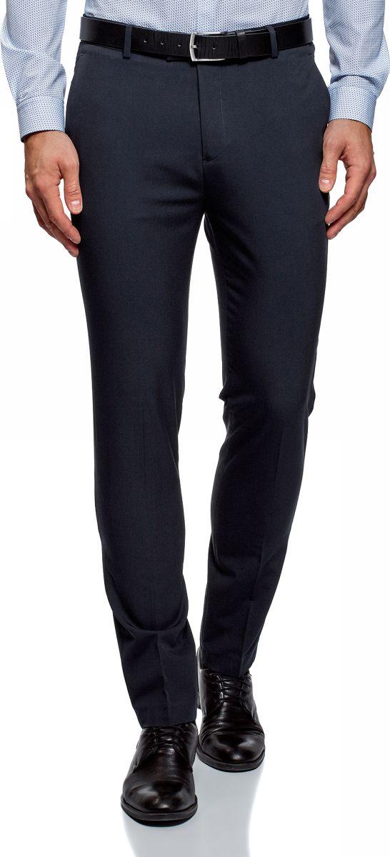 Брюки oodji Basic брюки мужские oodji basic цвет темно синий 2b210016m 46317n 7900n размер 48 182 56 182