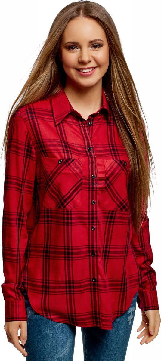 Рубашка oodji рубашка женская oodji collection цвет бирюза оранжевый 21402212 14885 7355e размер 40 170 46 170