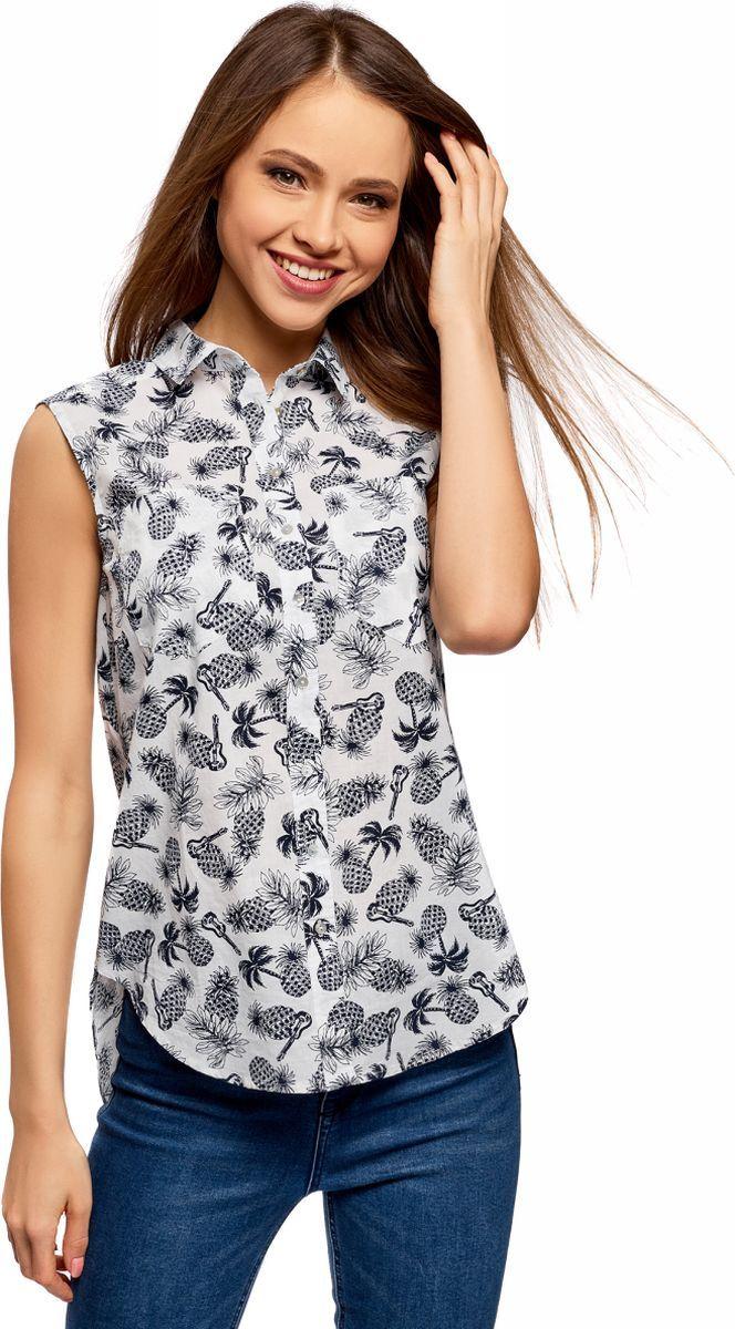 Рубашка oodji Ultra рубашка женская oodji ultra цвет темно синий 11411141 46401 7900n размер 34 170 40 170