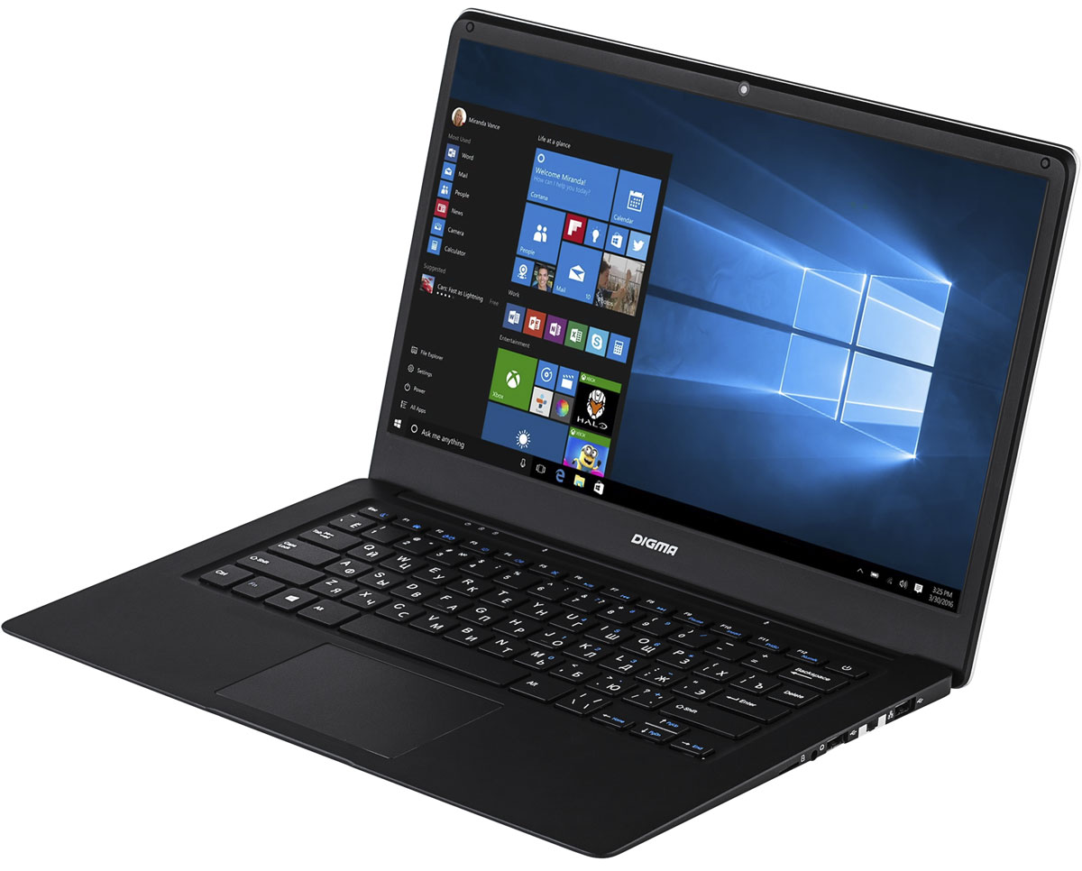 """Ноутбук Digma EVE 1401, ET4012EW, 14.1"""", черный, серый"""