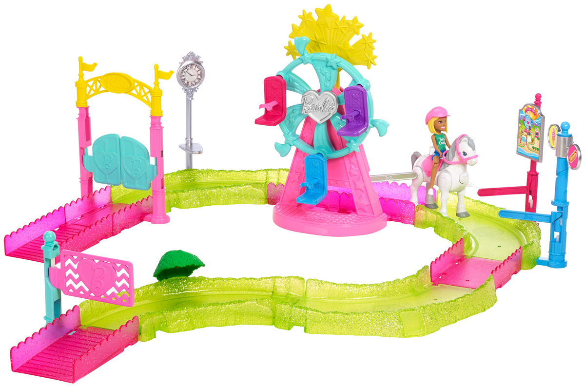 Фото - Barbie Игровой набор с куклой В движении Парк аттракционов игрушка barbie в движении игровой набор парк аттракционов