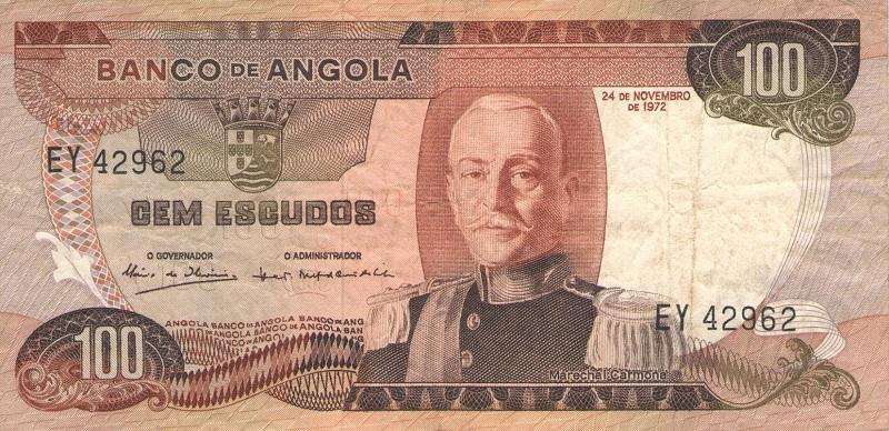 Банкнота номиналом 100 эскудо. Ангола. 1972 год банкнота номиналом 2 кордоба никарагуа 1972 год