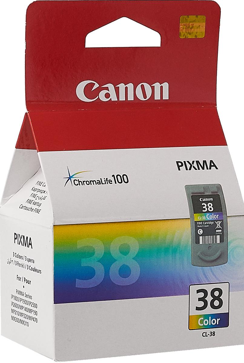 Картридж Canon CL-38CMY, голубой, пурпурный, желтый, для струйного принтера, оригинал canon pg 510bk black картридж для струйных мфу принтеров