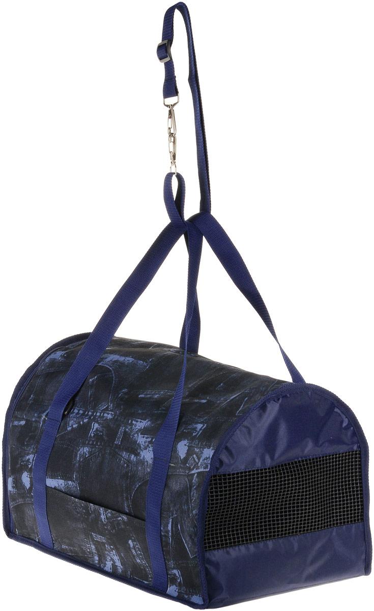 Сумка-переноска для животных Теремок, цвет: синий, джинс, 45 х 29 х 30 см сумка переноска для животных elite valley батискаф с отверстием для головы цвет темно синий черный 37 х 14 х 16 см