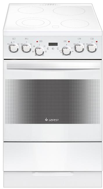 Gefest 5560-03 0039, White плита электрическая