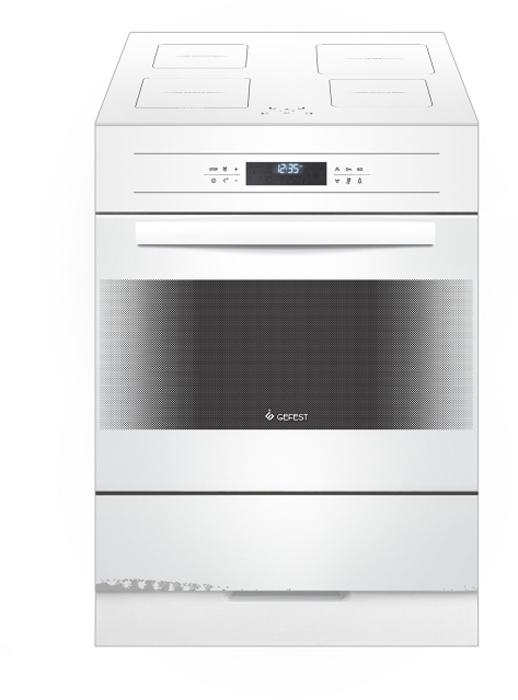 Gefest 6570-04, White плита электрическая