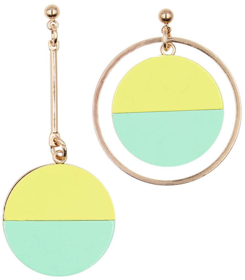 Серьги женские Taya, цвет: золотистый, светло-зеленый. T-B-13536-EARR-GL.L.GREEN цена