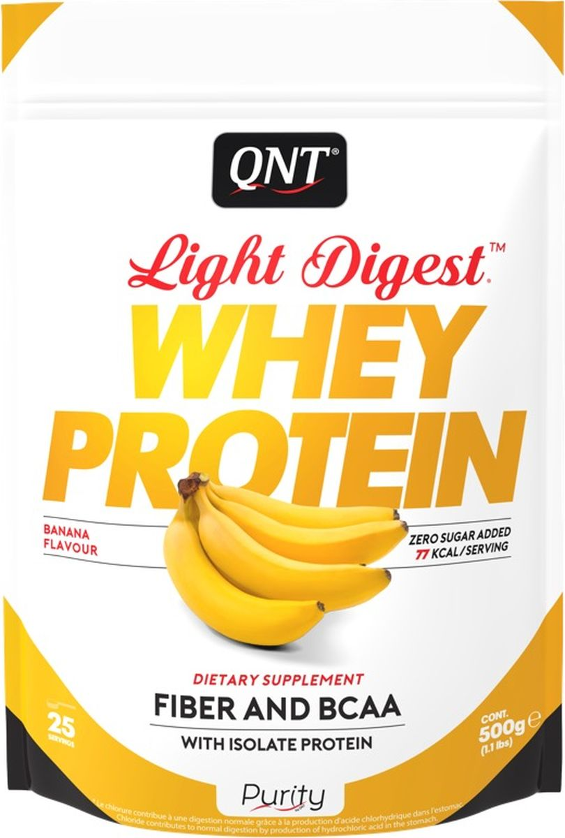 Протеин QNT Light Digest Whey Protein, банан, 500 г whey protein complex