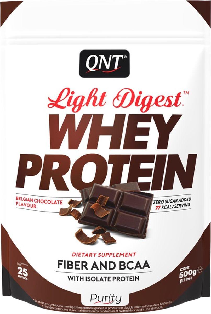 Протеин QNT Light Digest Whey Protein, бельгийский шоколад, 500 г протеин olimp 100% whey protein complex шоколад 700г