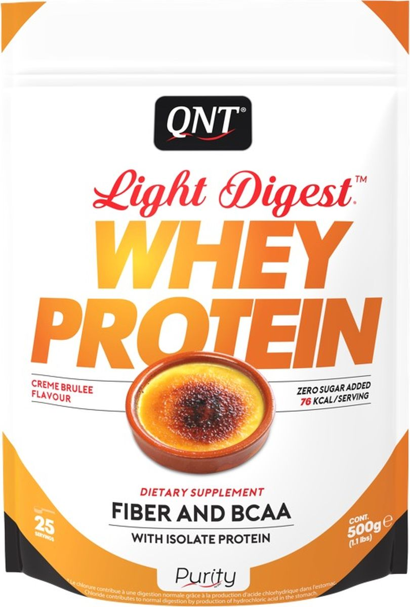 Протеин QNT Light Digest Whey Protein, крем-брюле, 500 г whey protein complex