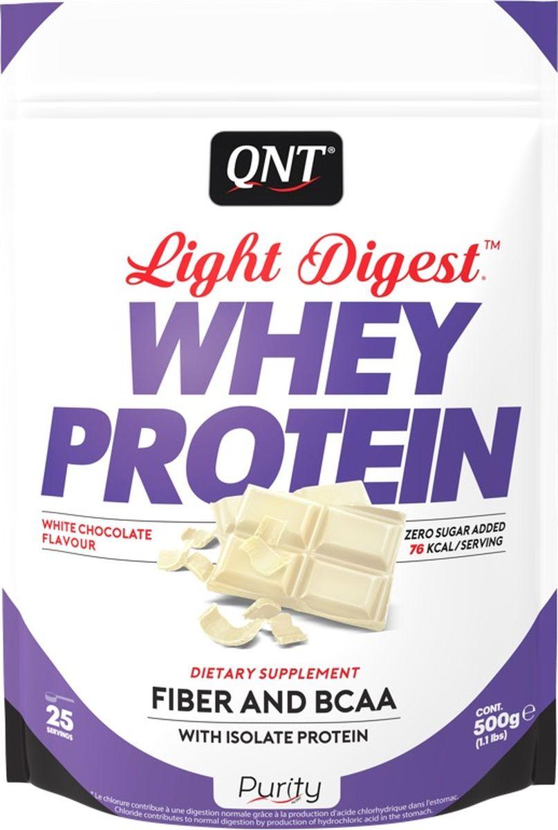 Протеин QNT Light Digest Whey Protein, белый шоколад, 500 г протеин olimp 100% whey protein complex шоколад 700г