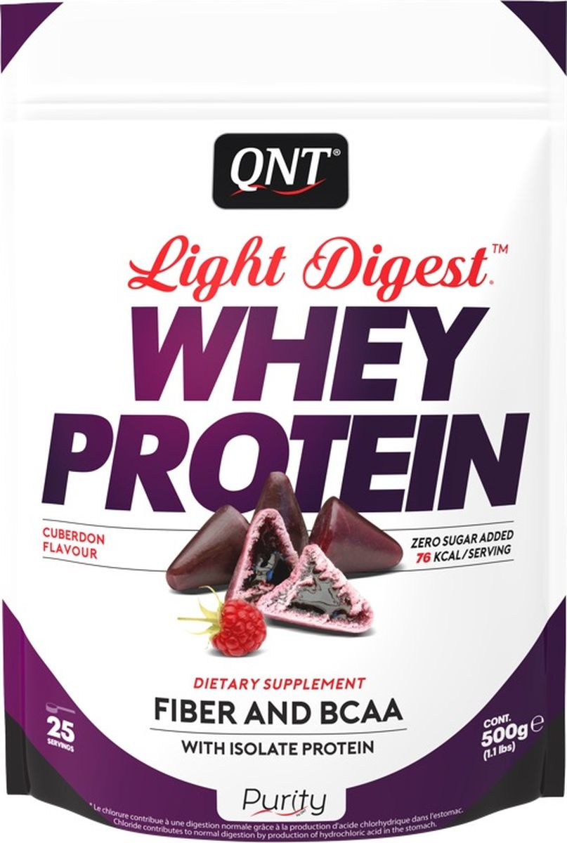 Протеин QNT Light Digest Whey Protein, кьюбердон, 500 г whey protein complex