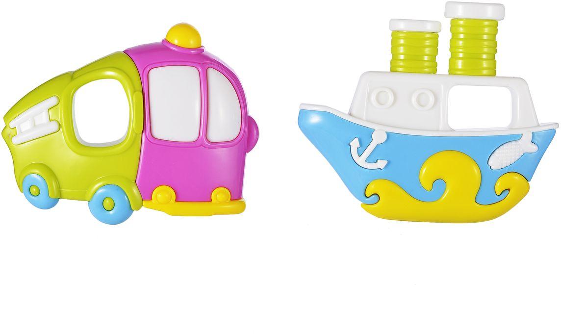 Жирафики Набор погремушек Кораблик и грузовичок 2 шт погремушки жирафики подарочный набор жирафики забавный лягушонок