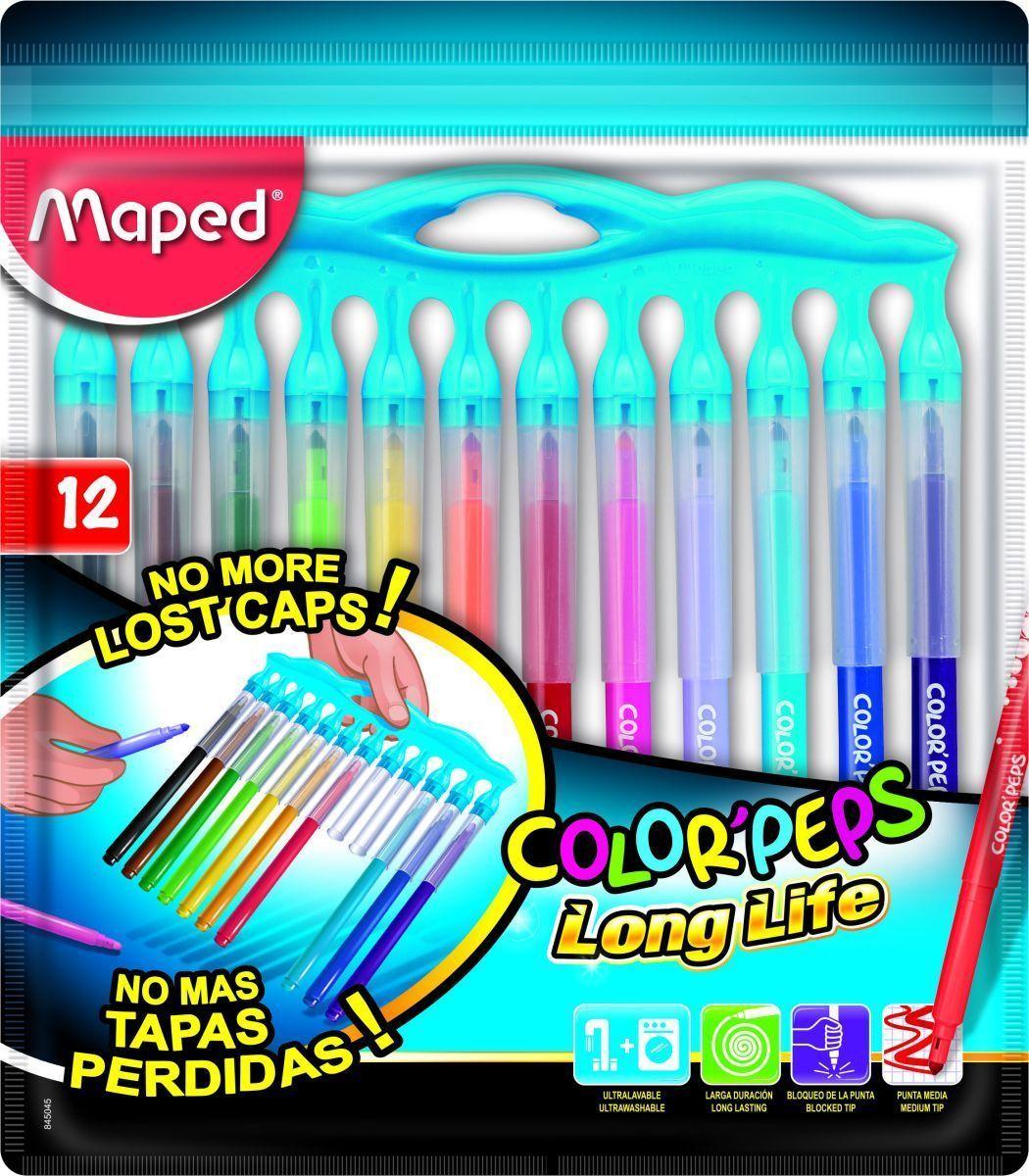 Фото - Maped Набор фломастеров Color Pep's Long Life 12 цветов maped фломастеры maped color peps long life 12 цветов