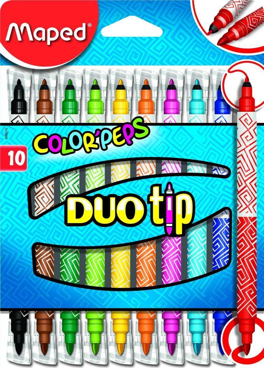MapedНабор фломастеров Color Pep's Duo Tip 10 цветов Maped