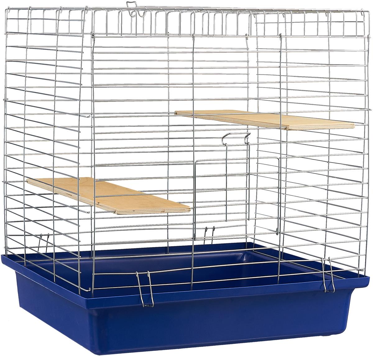 Клетка для шиншилл Велес Lusy Jerry, разборная, цвет: темно-синий, 56 х 50 х 60 см клетка для грызунов велес с полками цвет серый 40 х 58 х 45 см