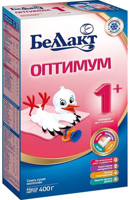 Беллакт Оптимум 1+ смесь молочная сухая с рождения, 400 г беллакт плюс смесь молочная сухая с 12 месяцев 400 г