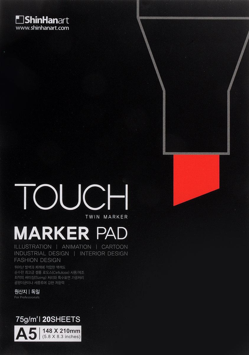 Фото - Touch Альбом для рисования Marker Pad A5 20 л бородычева и с степанова а н основы рисования альбом для скетчинга
