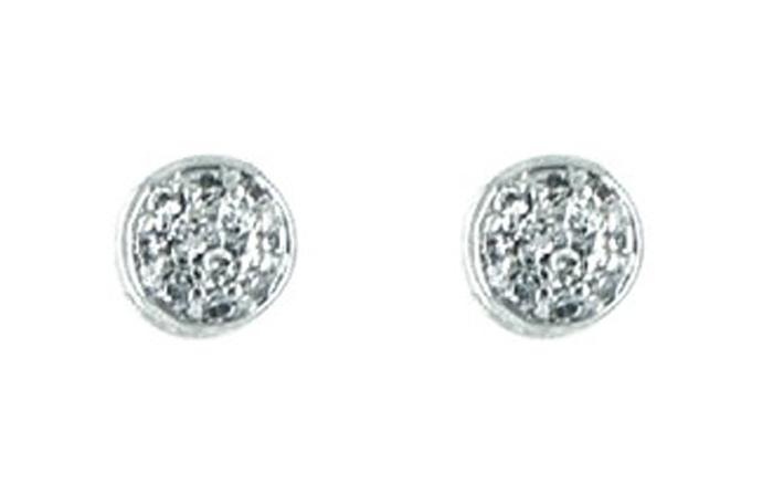 Серьги женские Taya, цвет: серебристый. T-B-4805-EARR-RHODIUM серьги taya цвет серебристый персиковый t b 10706 earr sl rose