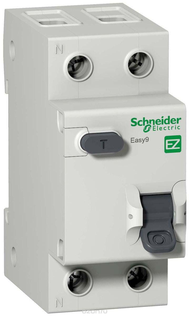 Дифференциальный автомат Schneider Electric EASY 9, 1П+N 2мод. C 16А 30мА тиП AC 4.5кА дифференциальный автомат ekf proxima авдт 63 16а 30ма c электронный тип a 6ка