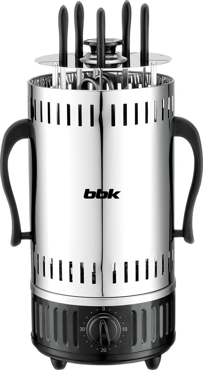 Электрошашлычница BBK BBQ601T, Black Silver