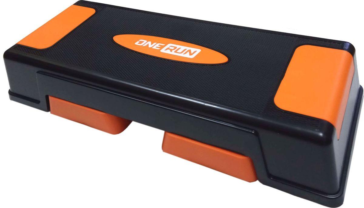 Степ-платформа OneRun, 3-х уровневая, цвет: оранжевый степ платформа original skyfit sf nik stp