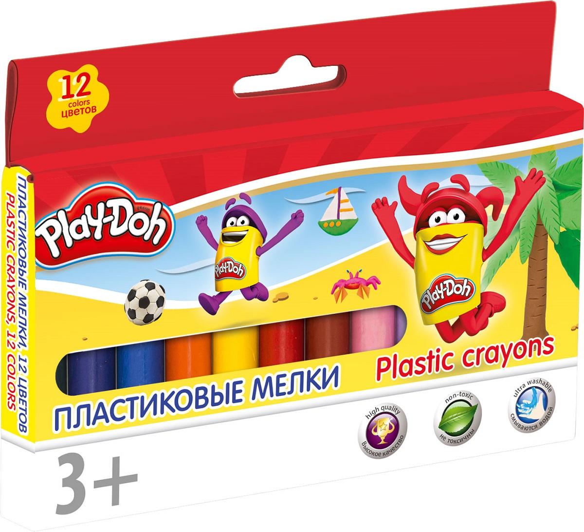 Play-Doh Мелки восковые 12 цветов набор для рисования play doh необычное яйцо cpdo062