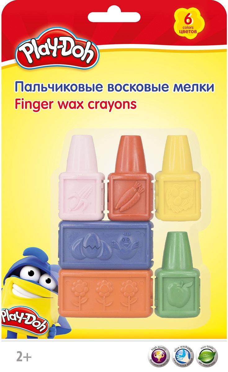 Play-Doh Набор восковых мелков пальчиковые 6 цветов PDEB-US1-CRB-SET