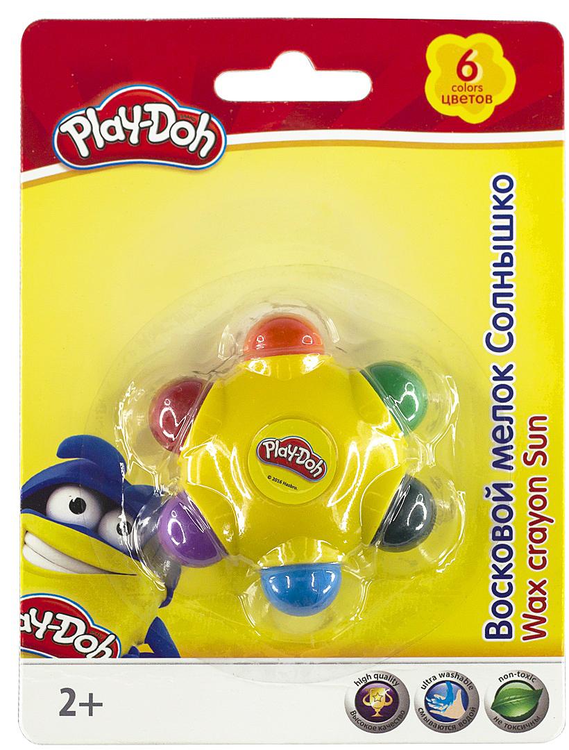 Play-Doh Набор восковых мелков Солнышко 6 цветов carioca набор пластиковых мелков plastello 12 цветов