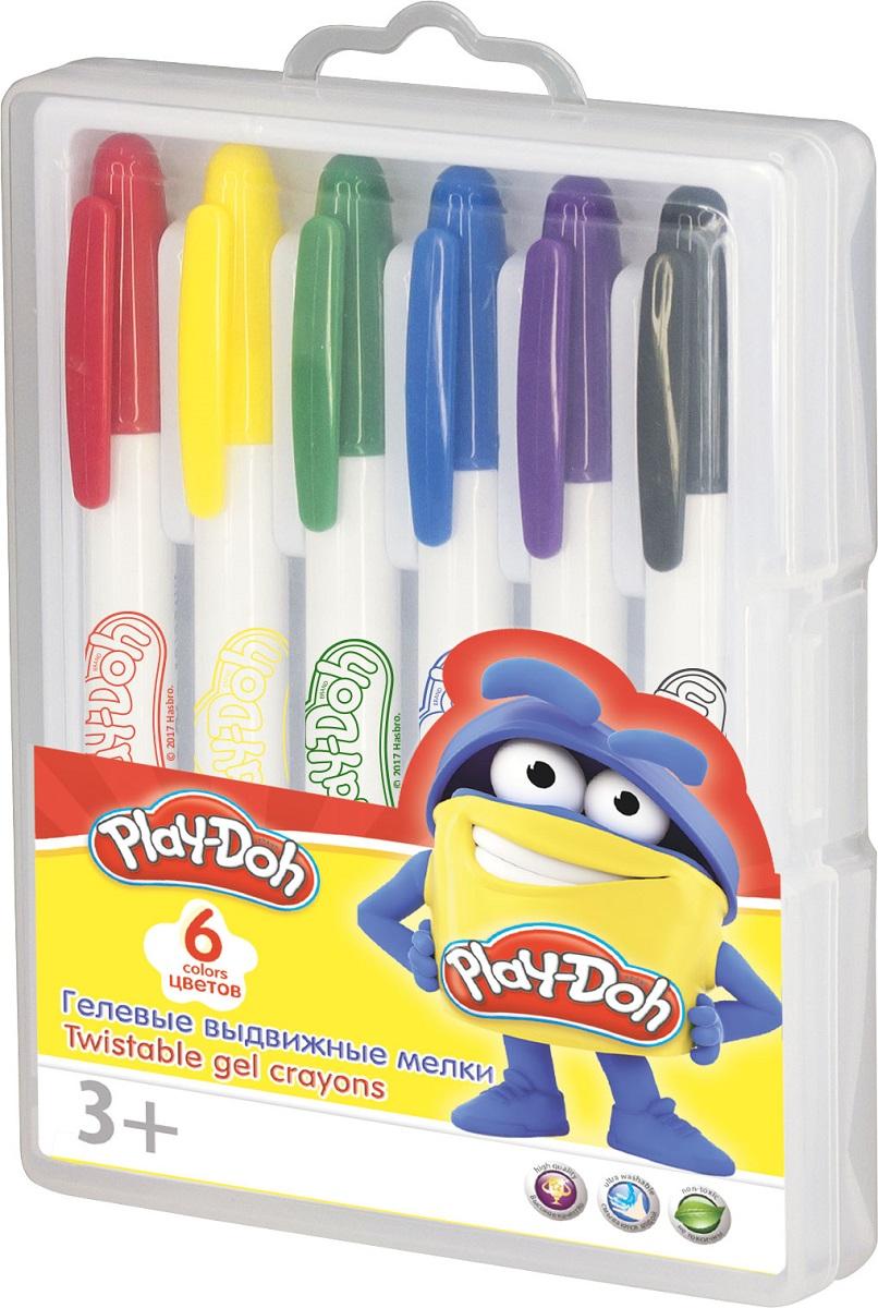 Play-Doh Набор гелевых мелков 6 цветов carioca набор пластиковых мелков plastello 12 цветов