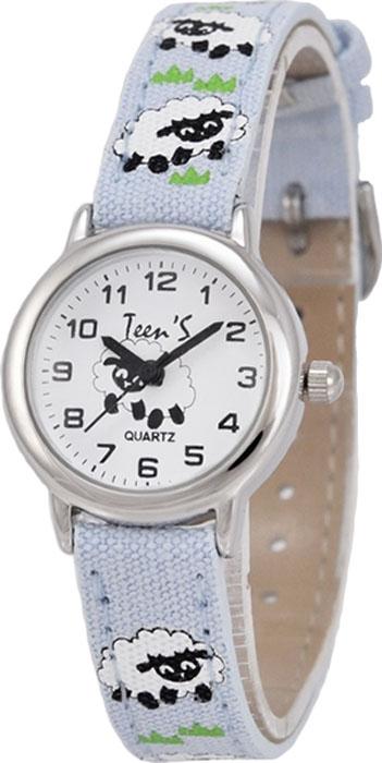 Часы наручные детские Тик-Так Овечки, цвет: светло-голубой. 114-4 часы наручные детские тик так звезды цвет черный 114 4