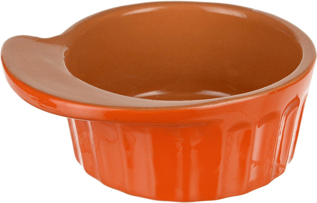 Кокотница Борисовская керамика Ностальгия, цвет: оранжевый, светло-коричневый, 200 мл. РАД14457899 кокотница борисовская керамика ностальгия цвет оранжевый 200 мл рад14457899