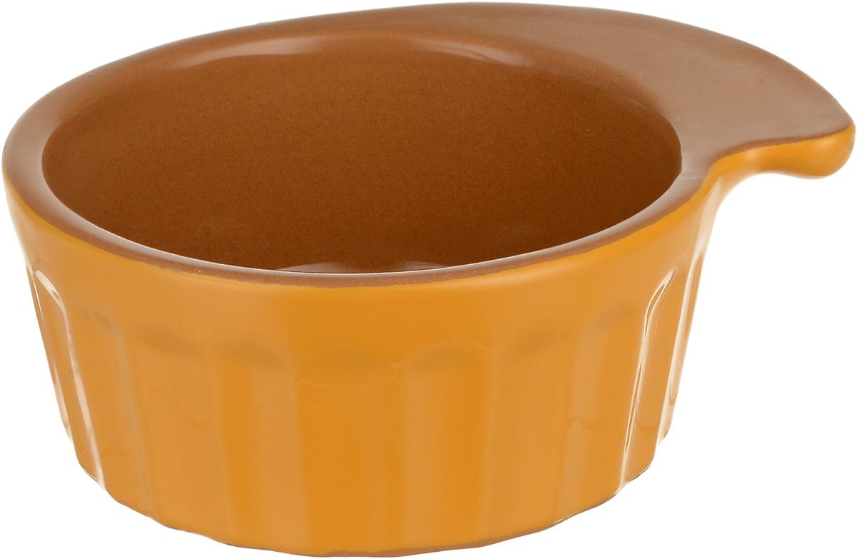 Кокотница Борисовская керамика Ностальгия, цвет: желтый, светло-коричневый, 200 мл. РАД14457899 кокотница борисовская керамика ностальгия цвет оранжевый 200 мл рад14457899