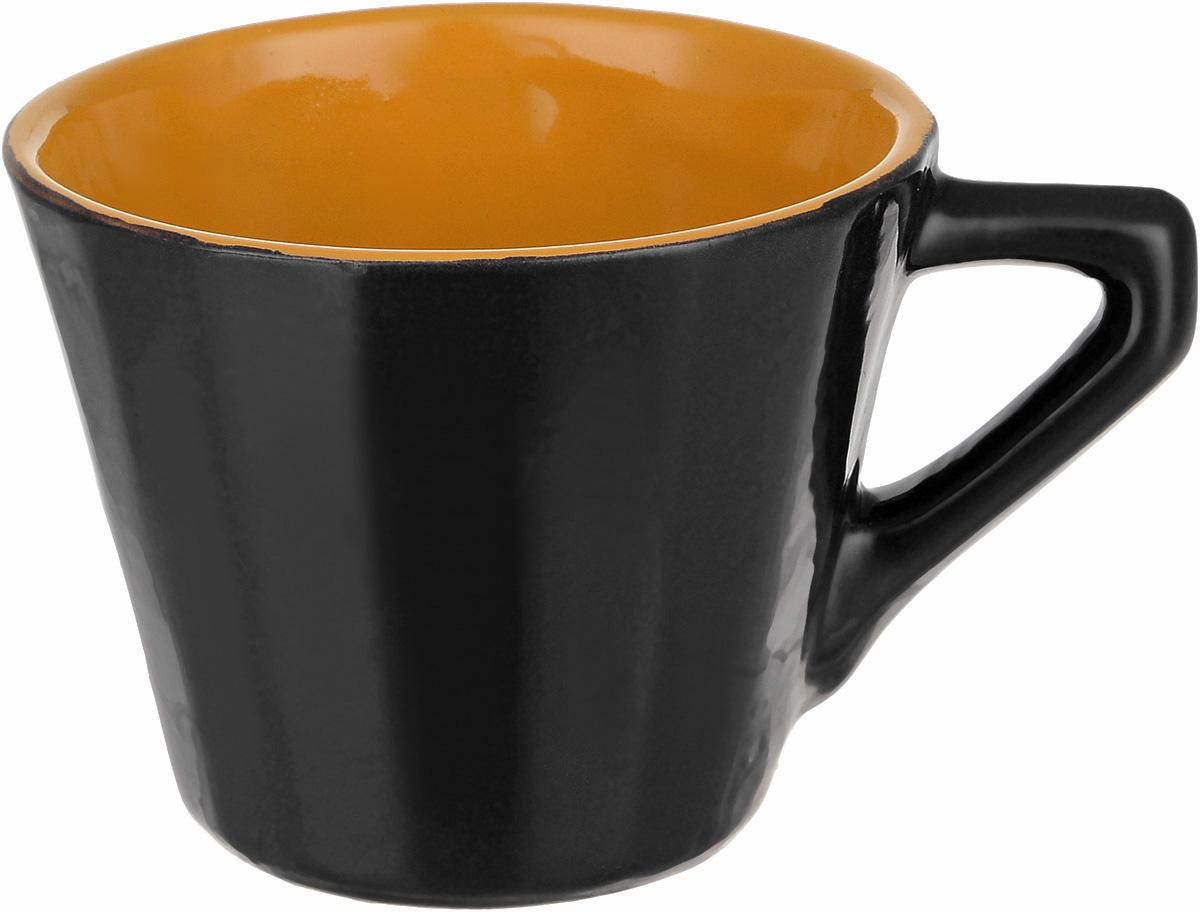 Чашка чайная Борисовская керамика Ностальгия, цвет: темно-коричневый, 200 мл чайная пара борисовская керамика ностальгия цвет темно фиолетовый голубой 200 мл