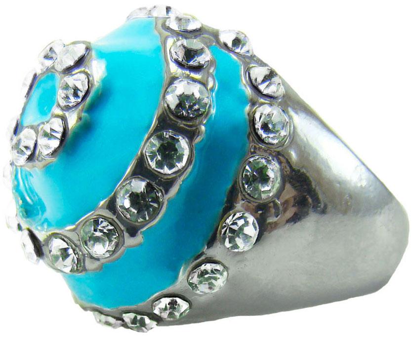 Кольцо женское Taya, цвет: бирюзовый. T-B-8634-RING-TURQUOISE. Размер 17