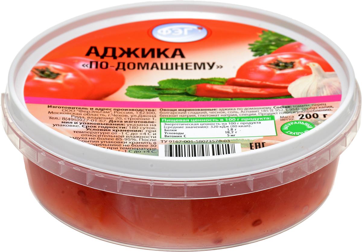 ФЭГ Аджика по-домашнему, 200 г аджика амца абхазская копченая 200 г